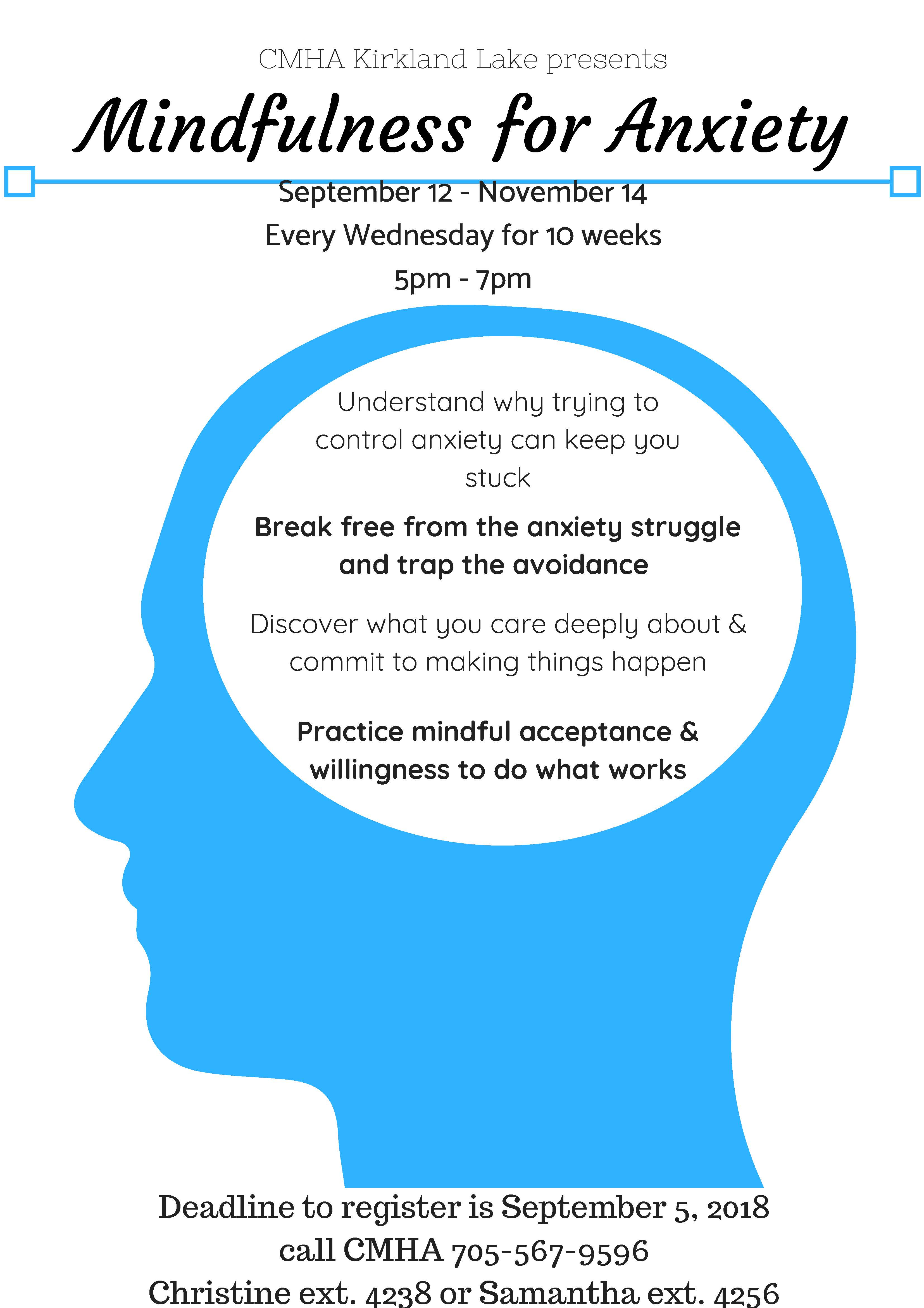Free Talk Wednesday November 5th In >> Mindfullness For Anxiety